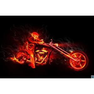 Ohnivý biker
