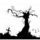 Černý strom s křížem