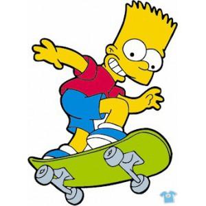 Bart na skejtu